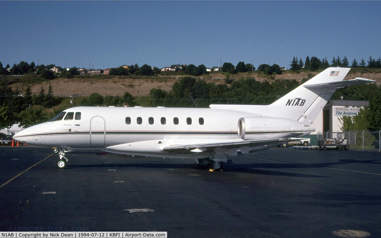 N1AB, 1993 British Aerospace BAE125 HAWKER 1000A C/N 259036, KBFI The 2nd 1000 to carry N1AB the 1st being C/N 259005