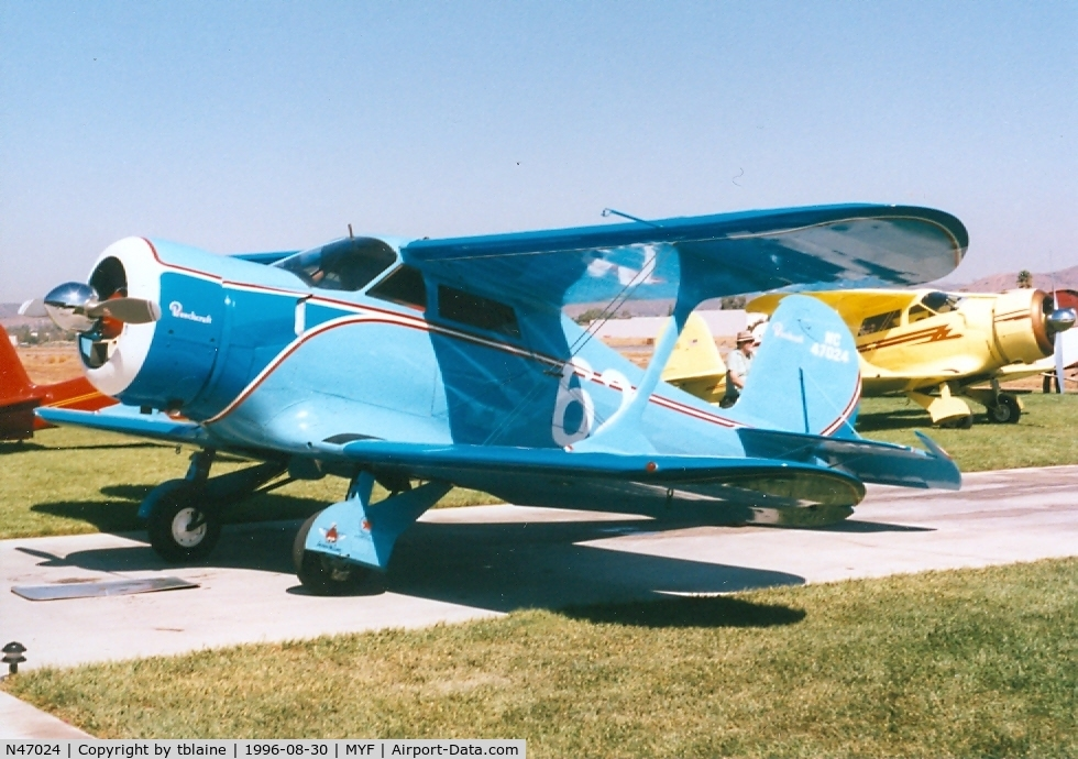 N47024, 1928 Beech C17B C/N C17B-102, 1996 Staggerwing Convention at MYF
