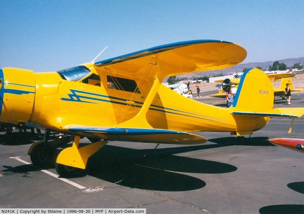 N241K, 1939 Beech D17S Staggerwing C/N 287, 1996 Staggerwing Convention at MYF
