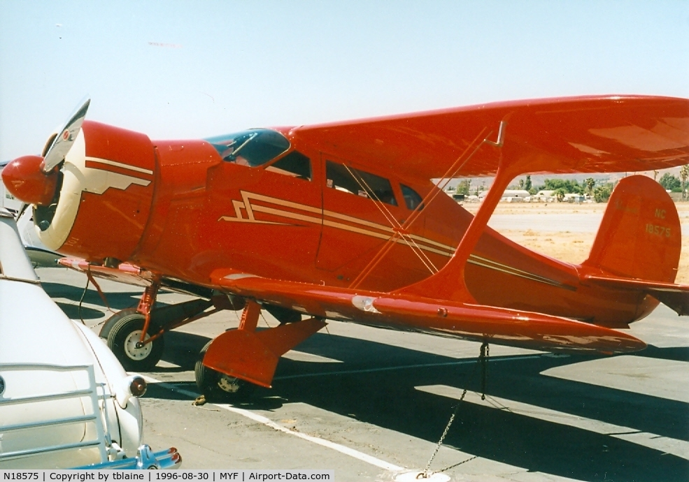 N18575, 1937 Beech D17S Staggerwing C/N 179, 1996 Staggerwing Convention at MYF