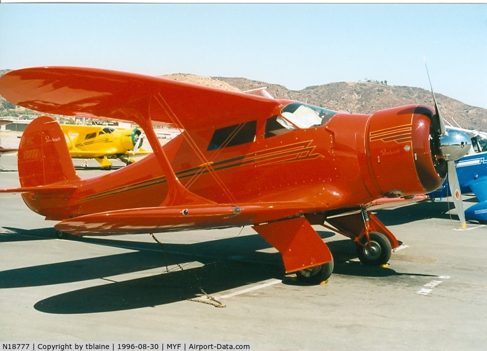 N18777, 1938 Beech D17S Staggerwing C/N 200, 1996 Staggerwing Convention at MYF