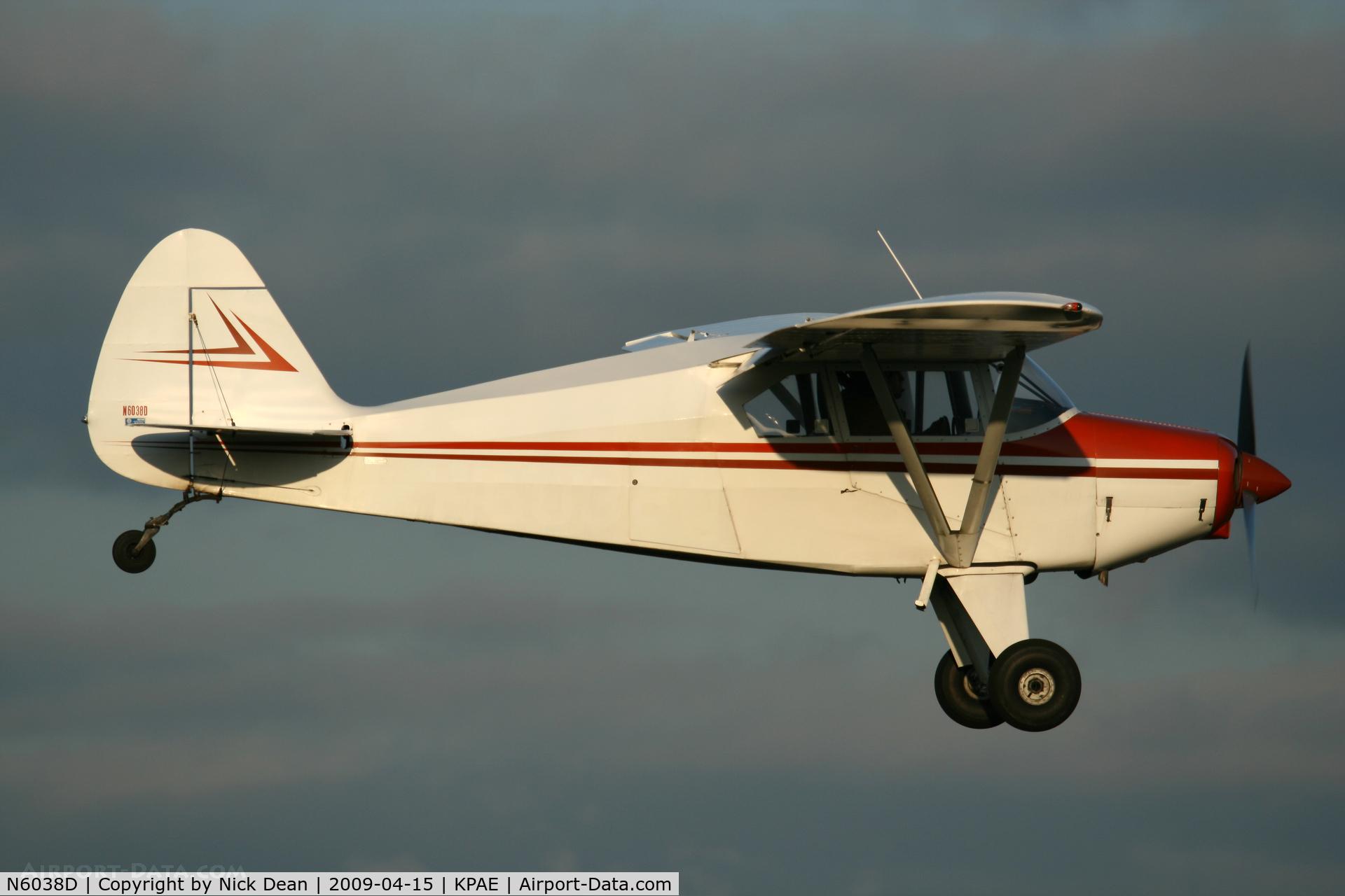 N6038D, 1956 Piper PA-22-150 C/N 22-4691, KPAE