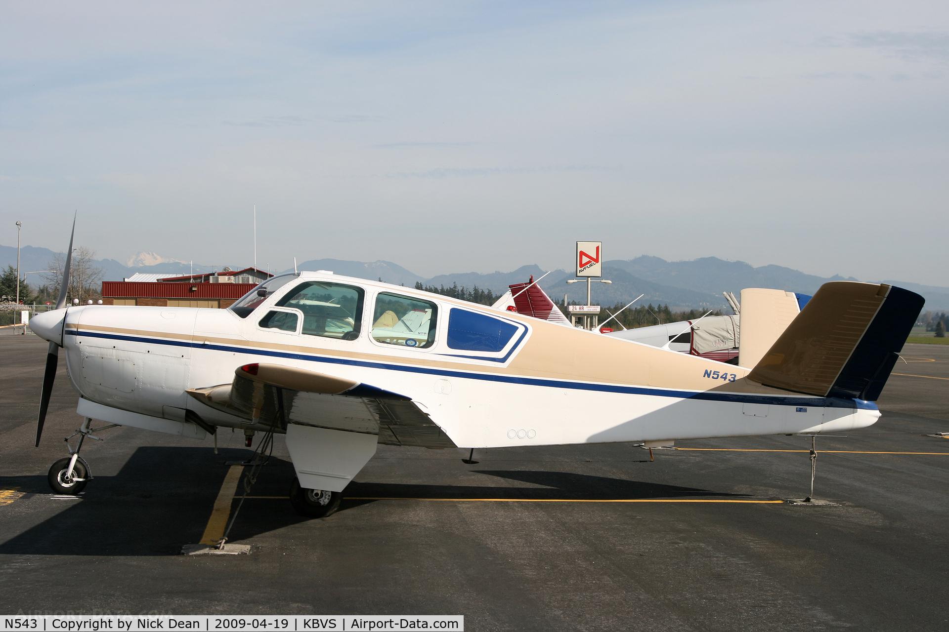 N543, 1953 Beech D35 C/N D-3686, KBVS