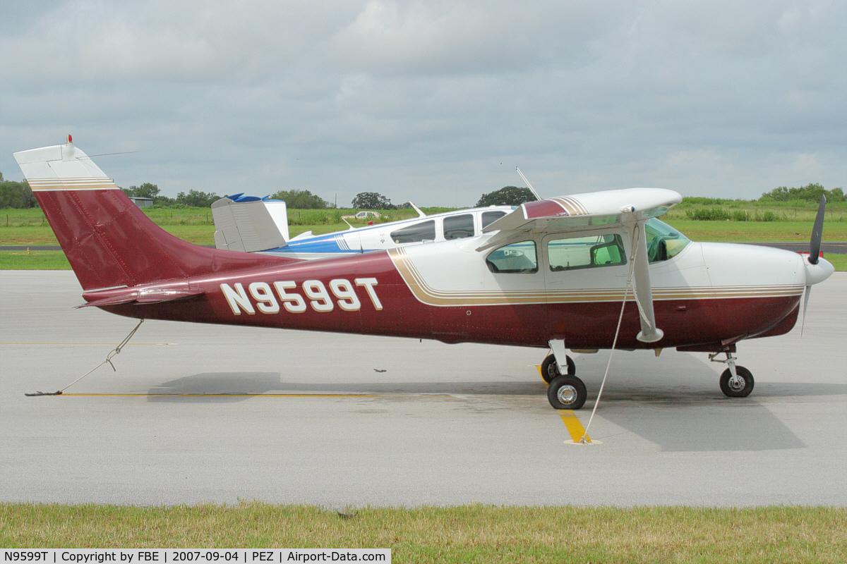 N9599T, 1960 Cessna 210 C/N 57399, parked at Pleasanton Municipal Airport