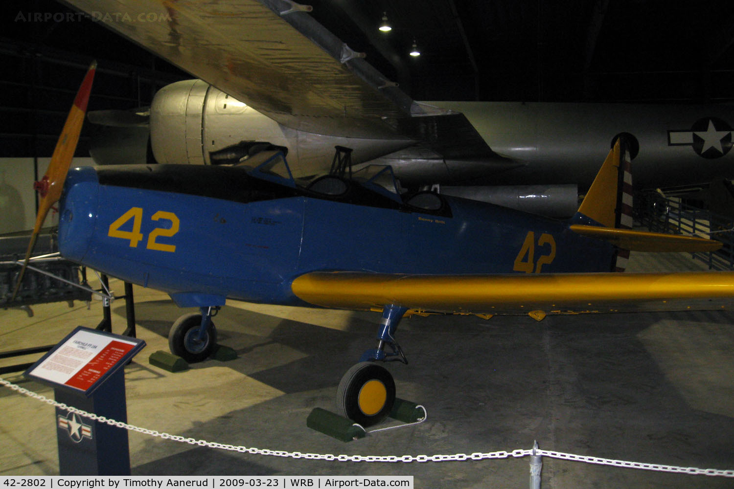 42-2802, 1942 Fairchild PT-19A C/N Not found 42-2802, Museum of Aviation, Robins AFB