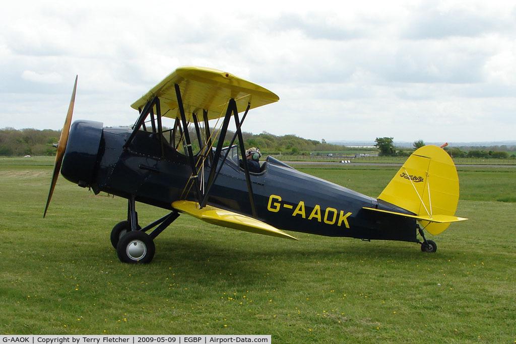 G-AAOK, 1929 Curtiss-Wright Travel Air 12Q C/N 2026, 1929 Curtiss-Wright Travel Air 12Q at Kemble on Great Vintage Flying Weekend