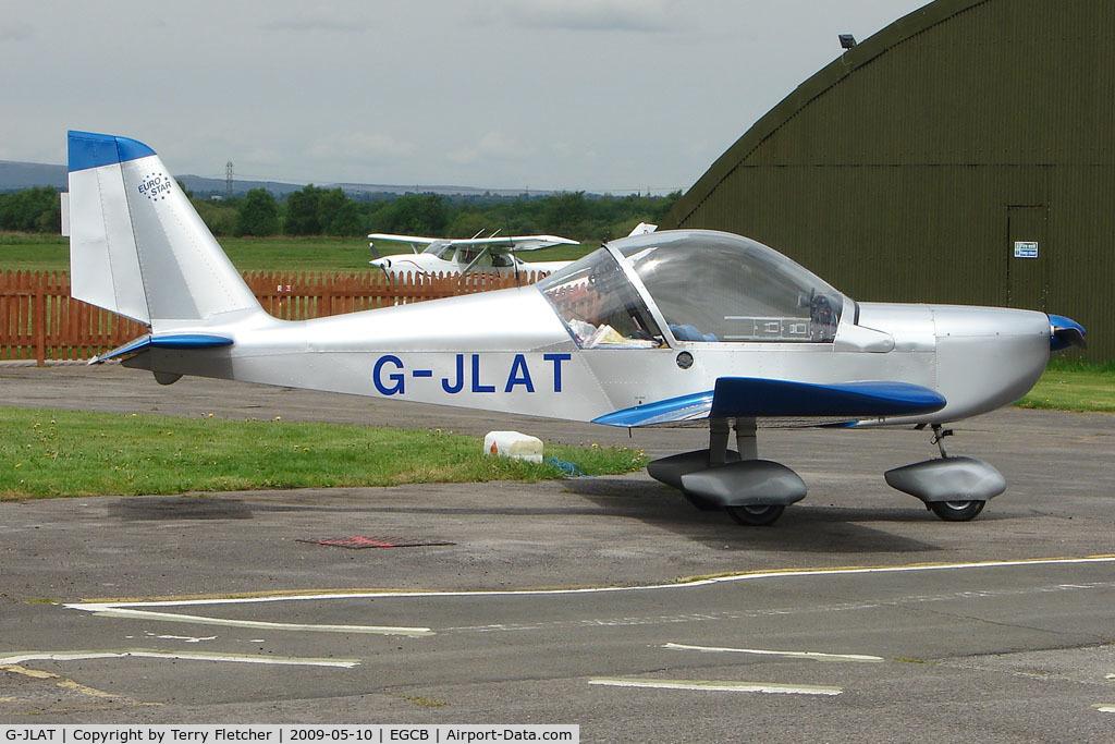 G-JLAT, 2003 Aerotechnik EV-97 Eurostar C/N PFA 315-14068, EV-97 Eurostar at City Airport Manchester (Barton)