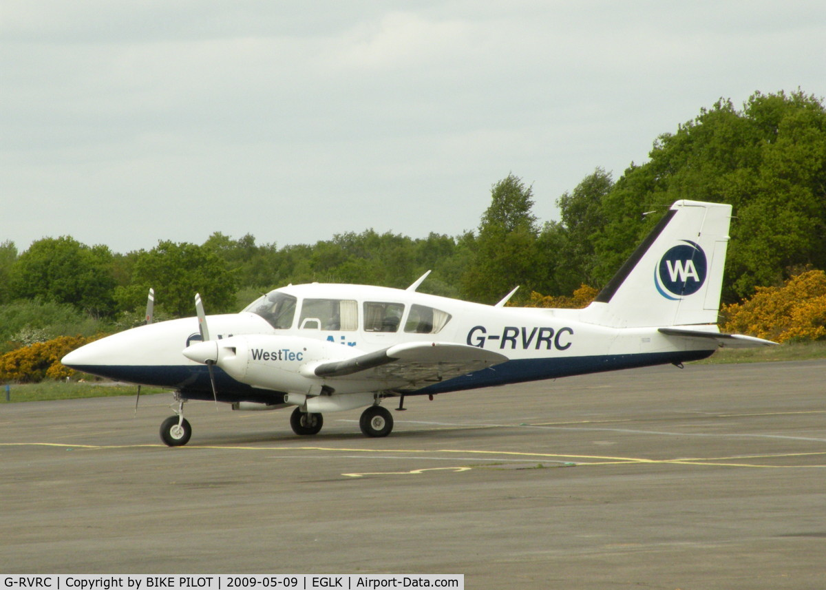 G-RVRC, 1974 Piper PA-23-250 Aztec E C/N 27-7405336, PARKED IN SLOT 4
