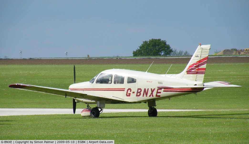 G-BNXE, 1981 Piper PA-28-161 C/N 28-8116034, PA-28 visiting Sywell