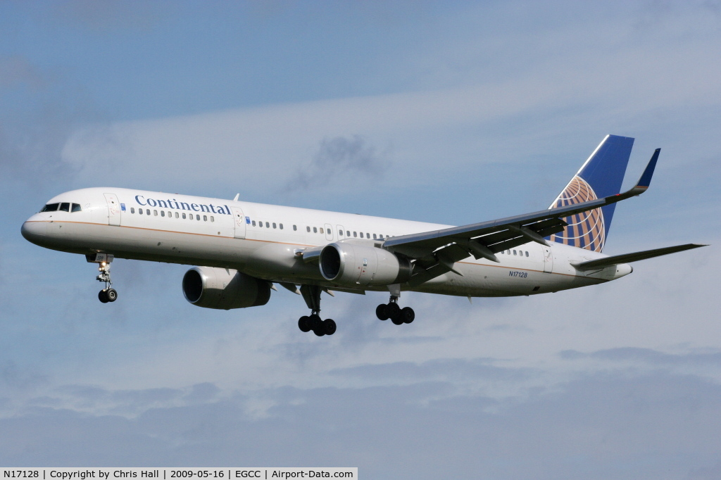N17128, 1998 Boeing 757-224 C/N 27567, Continental