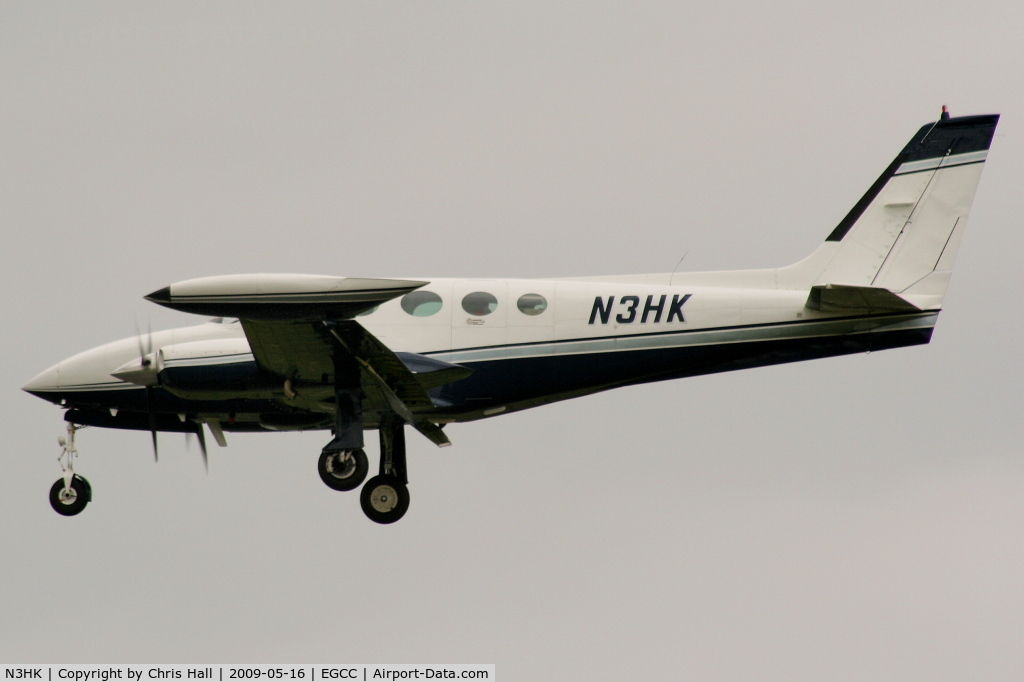 N3HK, 1975 Cessna 340 C/N 340-0538, on approach to runway 23R