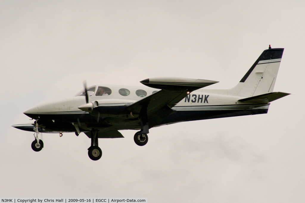 N3HK, 1975 Cessna 340 C/N 340-0538, on approach to runway 23R