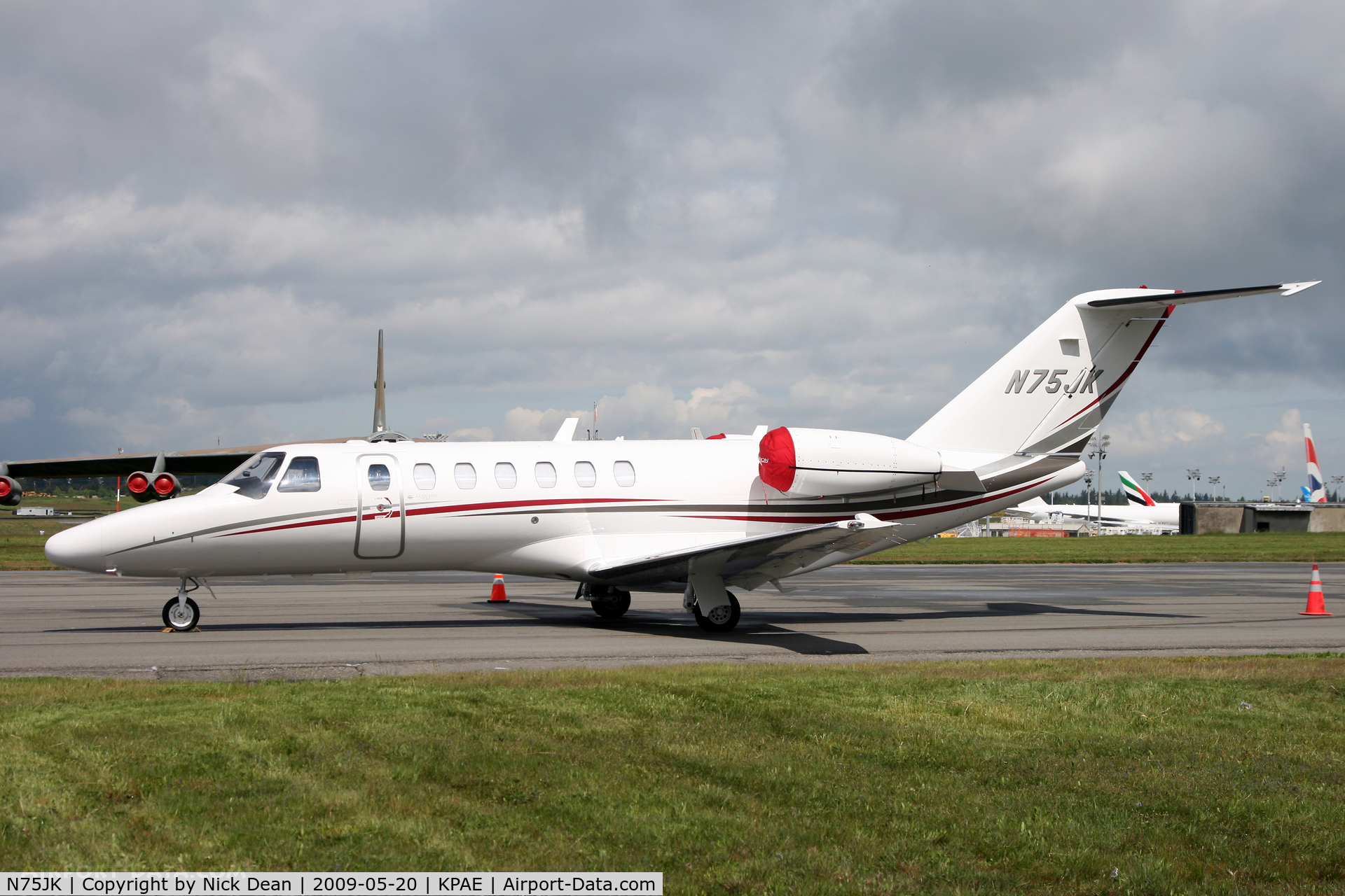 N75JK, 2008 Cessna 525B CitationJet CJ3 C/N 525B-0240, KPAE