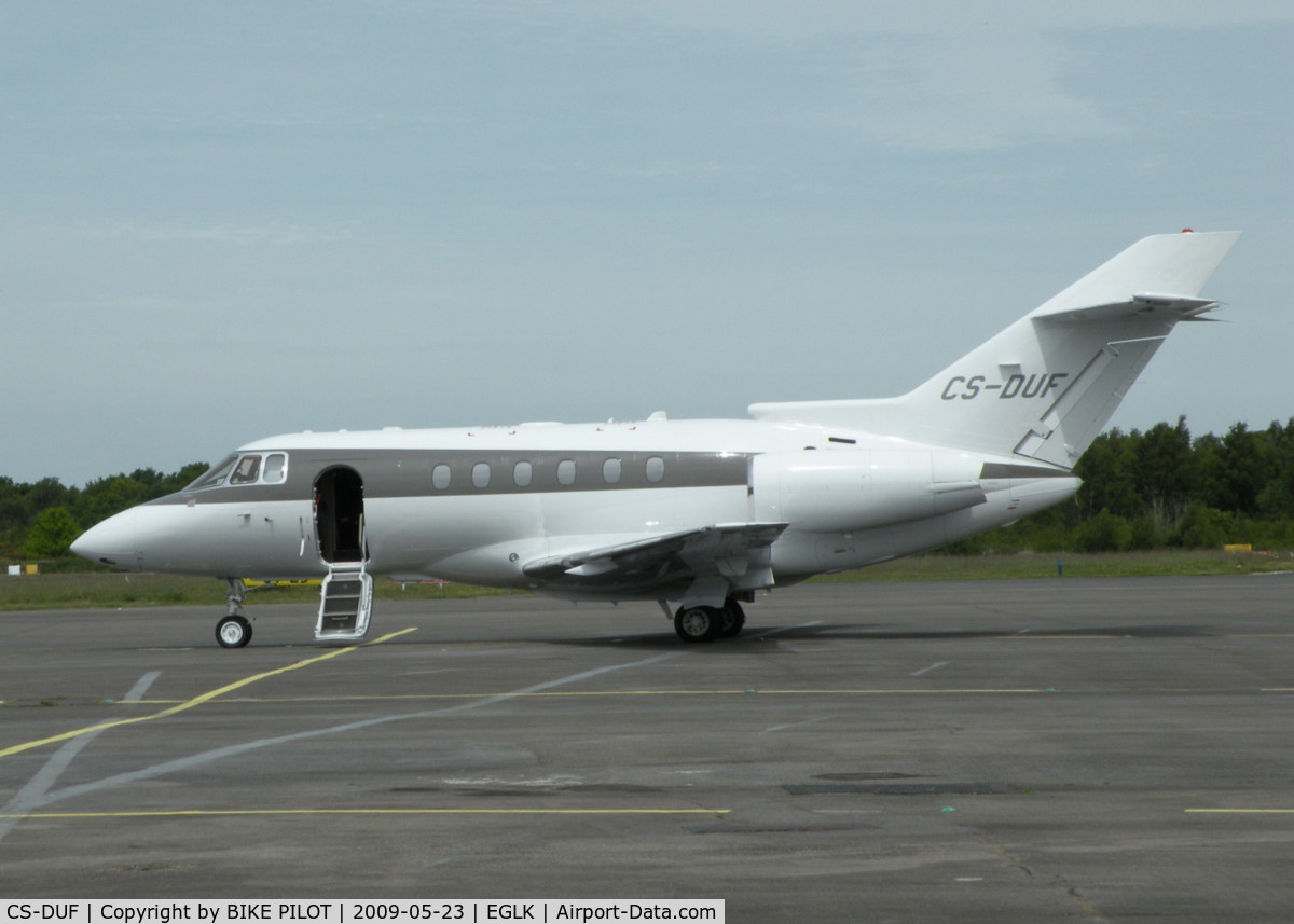 CS-DUF, 2008 Raytheon Hawker 750 C/N HB-19, NET JETS HAWKER 750 AT PARKING SLOT 4, THIS AIRCRAFT LATER DEPARTED FOR LUTON EGGW