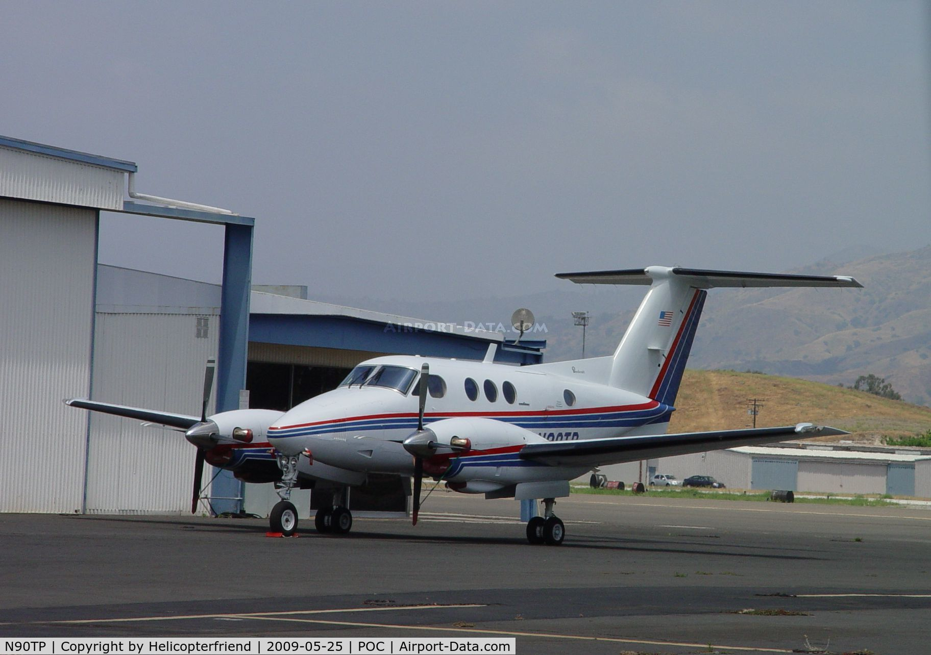 N90TP, 1980 Beech F90 King Air C/N LA-66, Parked waiting to be looked at