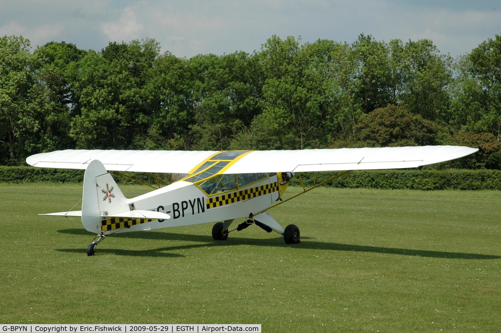 G-BPYN, 1943 Piper L-4H Grasshopper (J3C-65D) C/N 11422, 2. G-BPYN visiting Shuttleworth (Old Warden) Aerodrome.