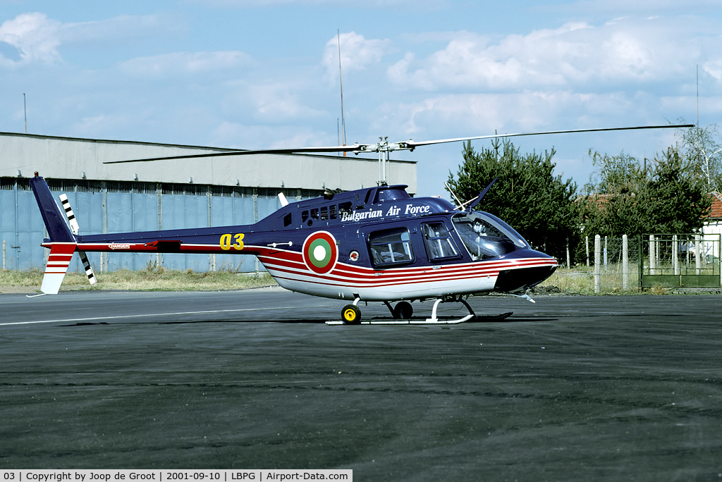 03, 1999 Bell 206B JetRanger C/N 4504, The Co-operative Key 2001 exercise brought lots of Bulgarian planes to Graf Ignatievo. A great first impression on this air force.