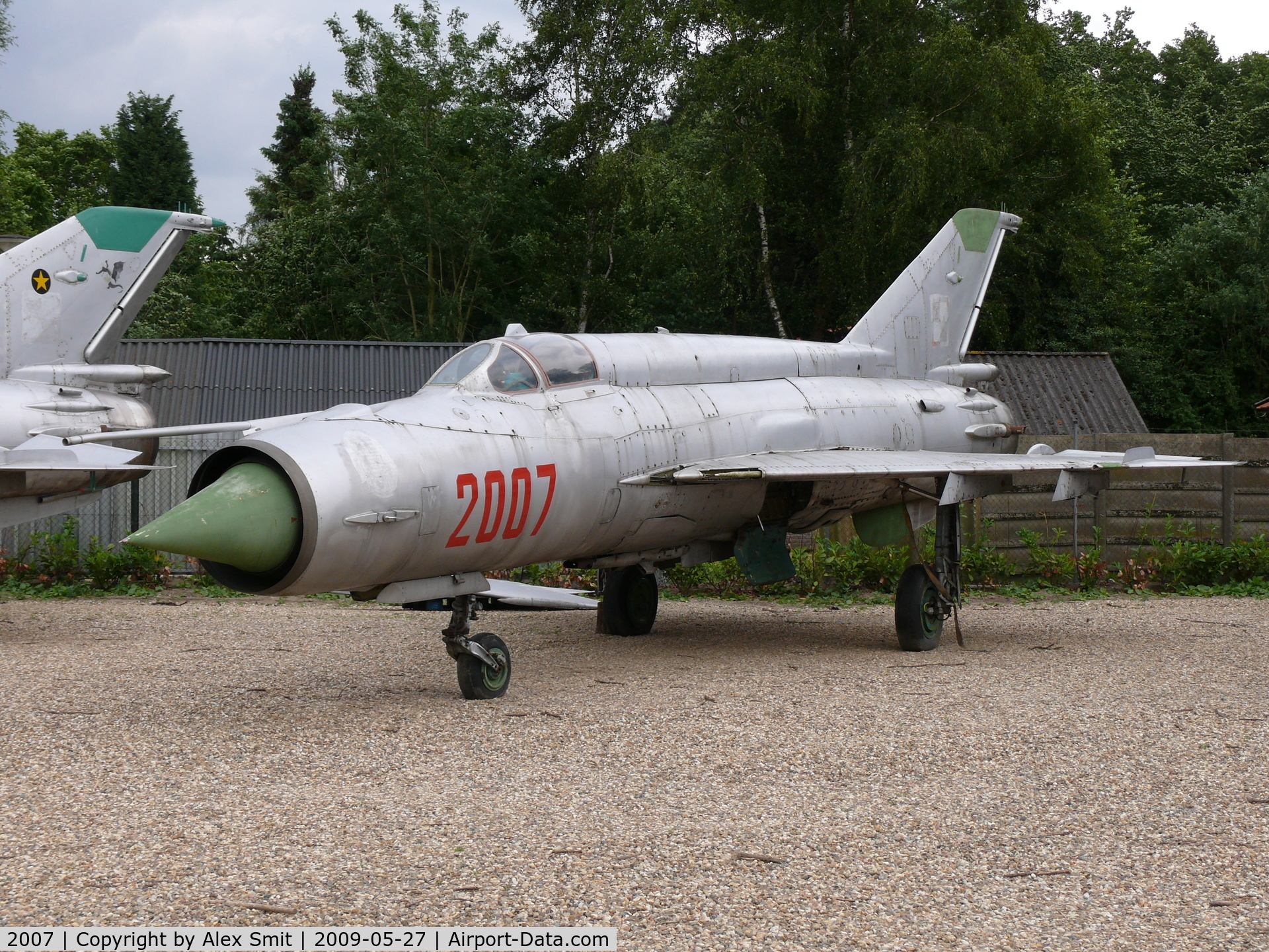 2007, 1996 Mikoyan-Gurevich MiG-21M C/N 962007, Mikoyan Mig21M Fishbed 2007 Polish Air Force part of the collection of Mr Piet Smets from Baarlo (PH) and stored in a small compound in Kessel (PH)