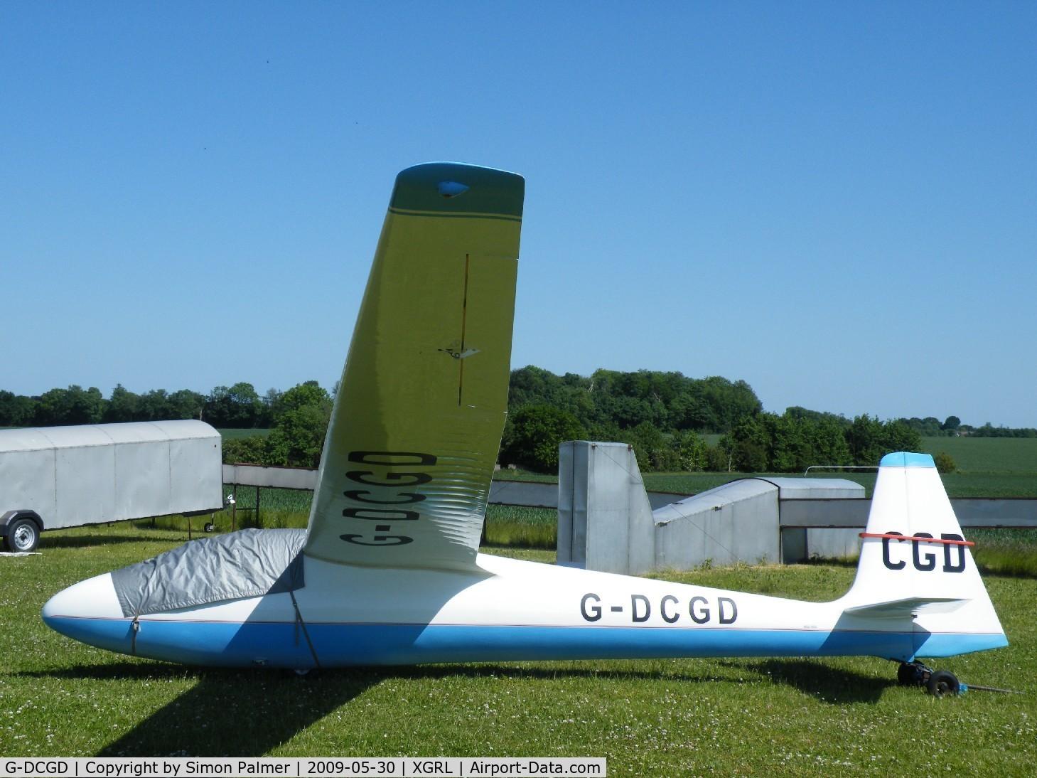 G-DCGD, 1968 Schleicher Ka-6E Rhonsegler C/N 4202, Schleicher Ka6E Rhonsegler at Gransden Lodge