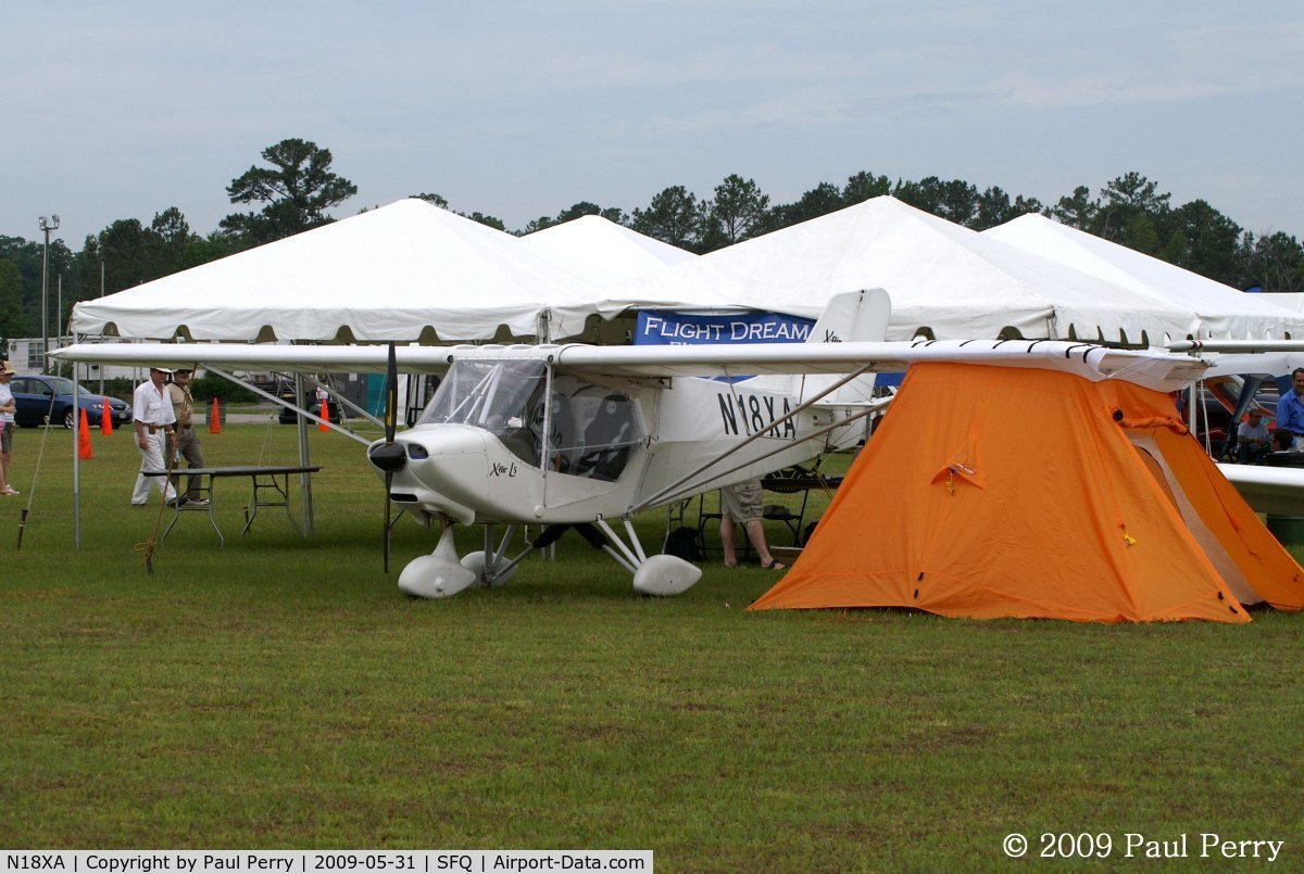 N18XA, X-Air XA85 C/N XA850005, Showing off some under-wing camping capability