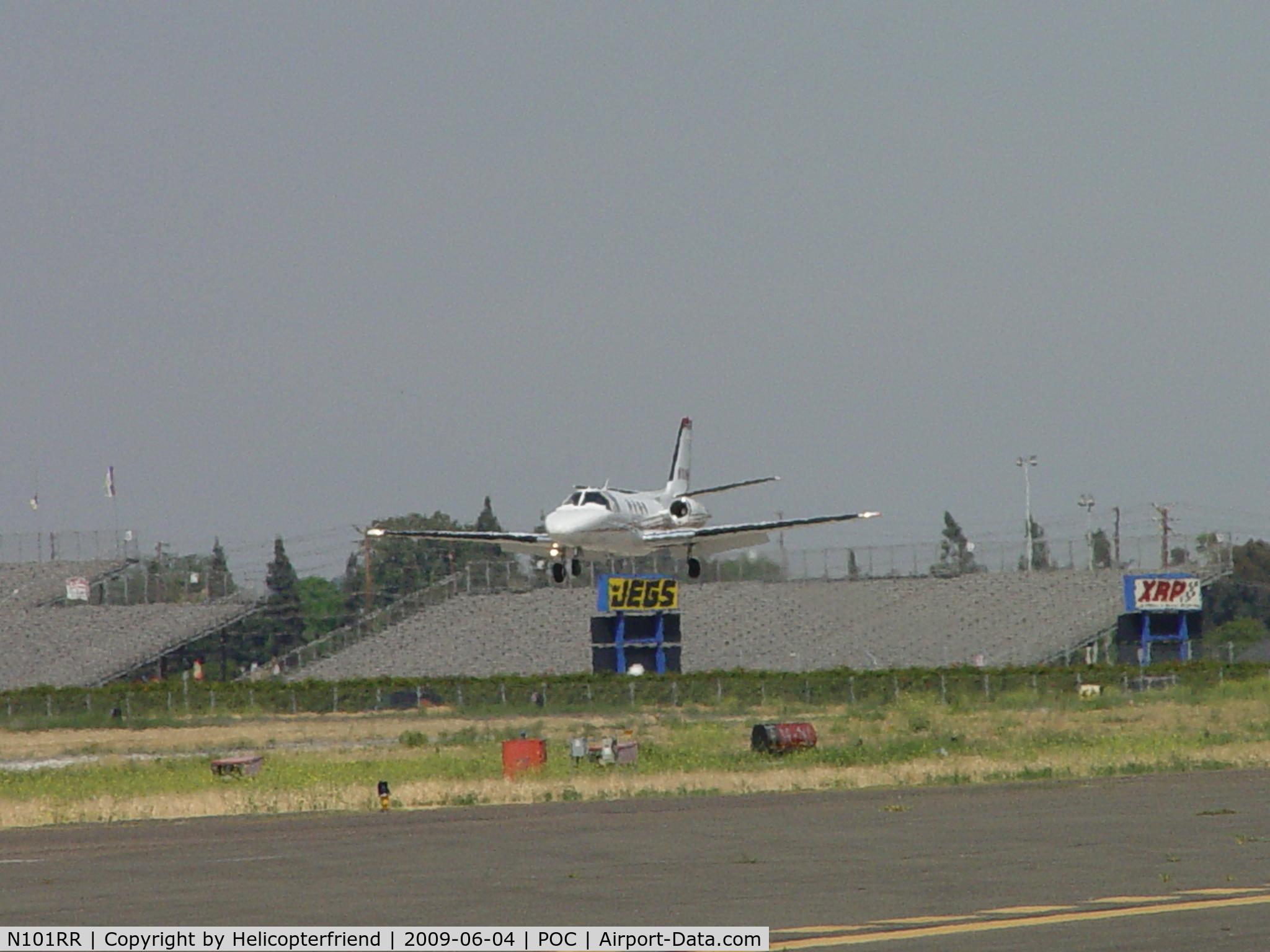 N101RR, 1982 Cessna 501 Citation I/SP C/N 5010241, Landing on 26L at Brackett