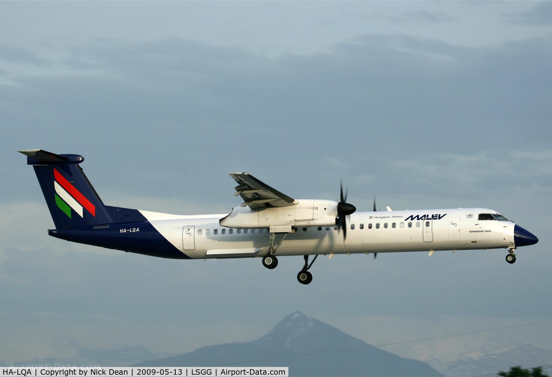 HA-LQA, 2001 De Havilland Canada DHC-8-402Q Dash 8 C/N 4062, LSGG