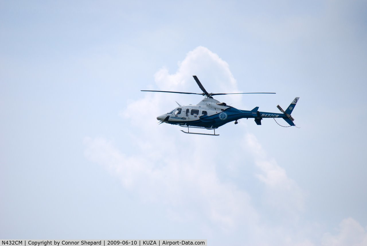 N432CM, 2002 Bell 430 C/N 49092, Coming back in