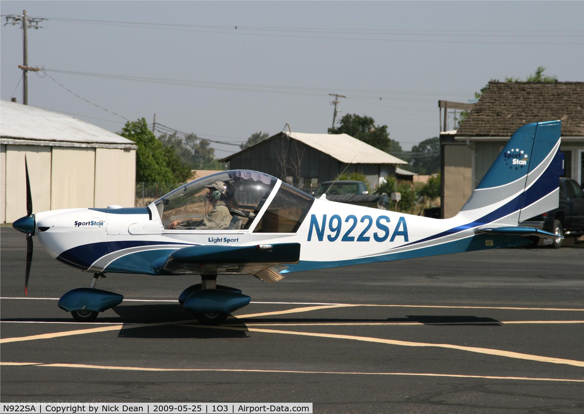 N922SA, 2007 Evektor-Aerotechnik SPORTSTAR PLUS C/N 20070922, 1O3