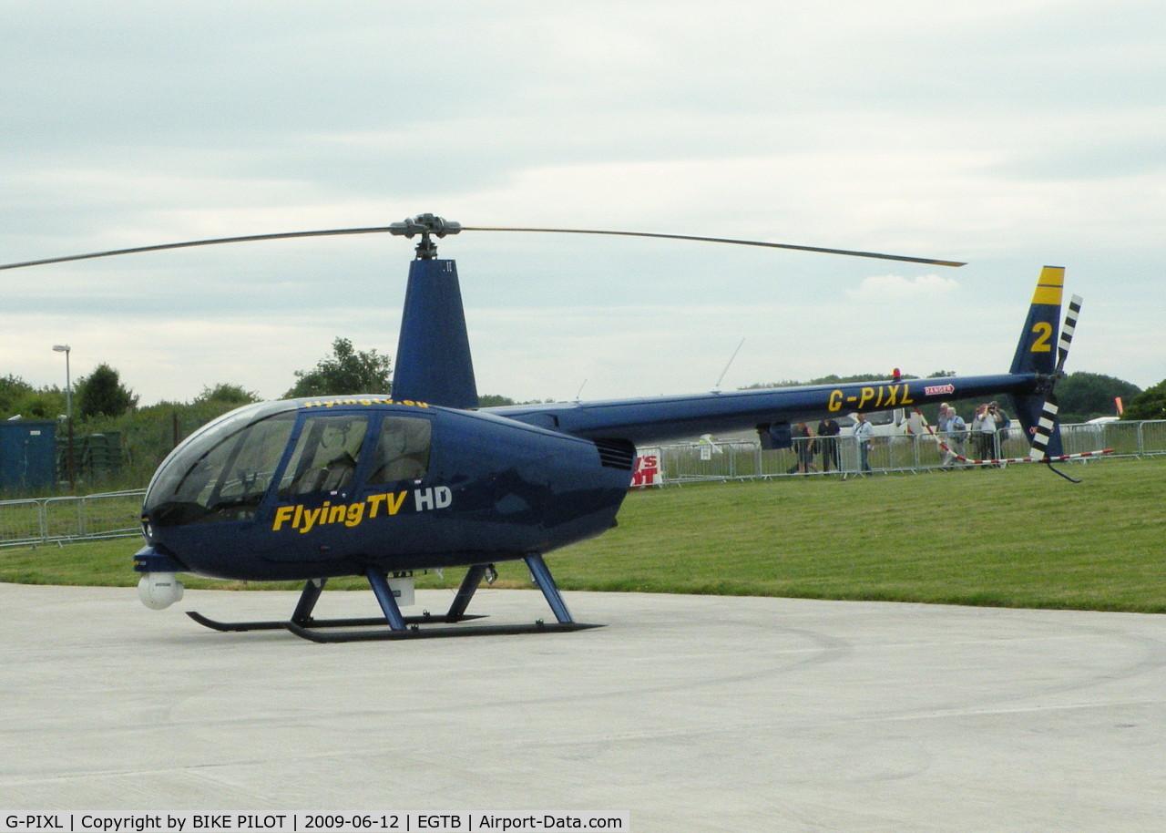 G-PIXL, 2006 Robinson R44 Raven II C/N 11221, AEROEXPO LONDON 2009