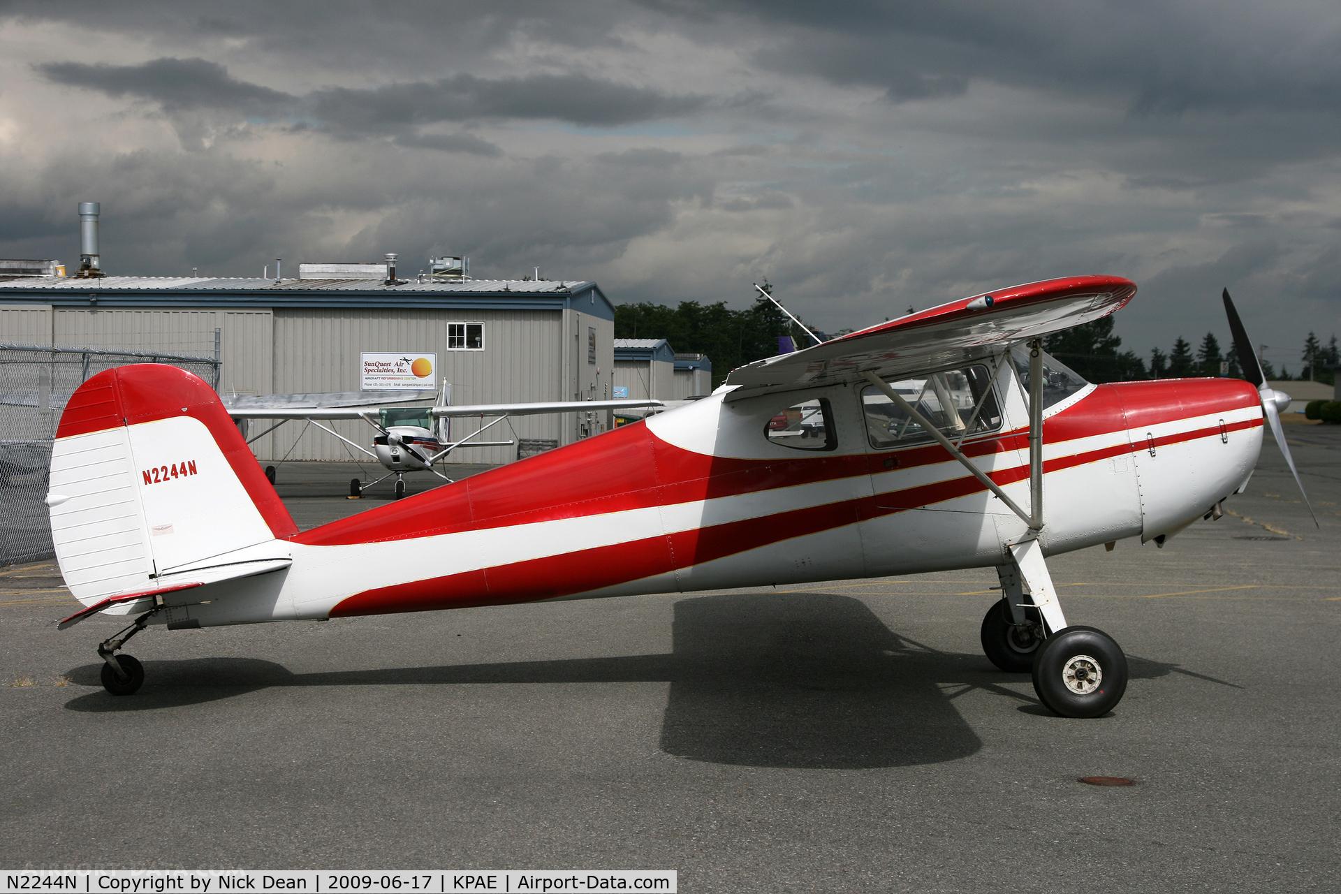 N2244N, 1947 Cessna 140 C/N 12480, KPAE