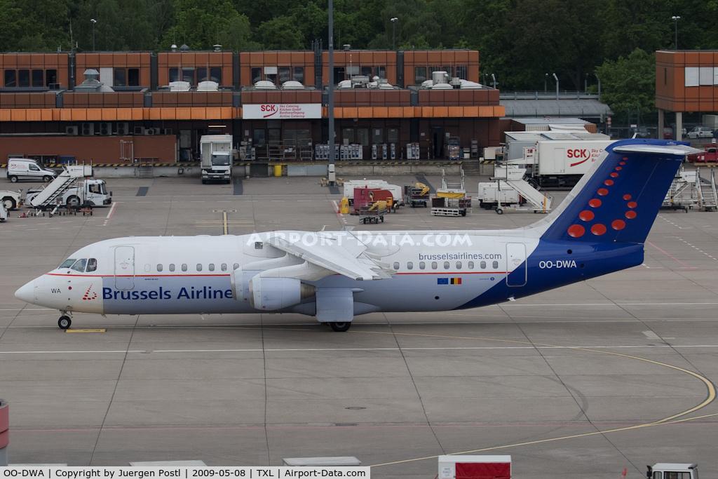 OO-DWA, 1997 British Aerospace Avro 146-RJ100 C/N E3308, Avro RJ100
