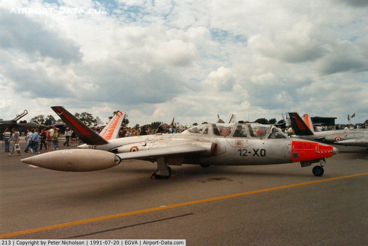 213, Fouga CM-170R Magister C/N 213, French Air Force CM-170R Magister of EC-12, callsign Raglan 43, at the 1991 Intnl Air Tattoo at RAF Fairford.