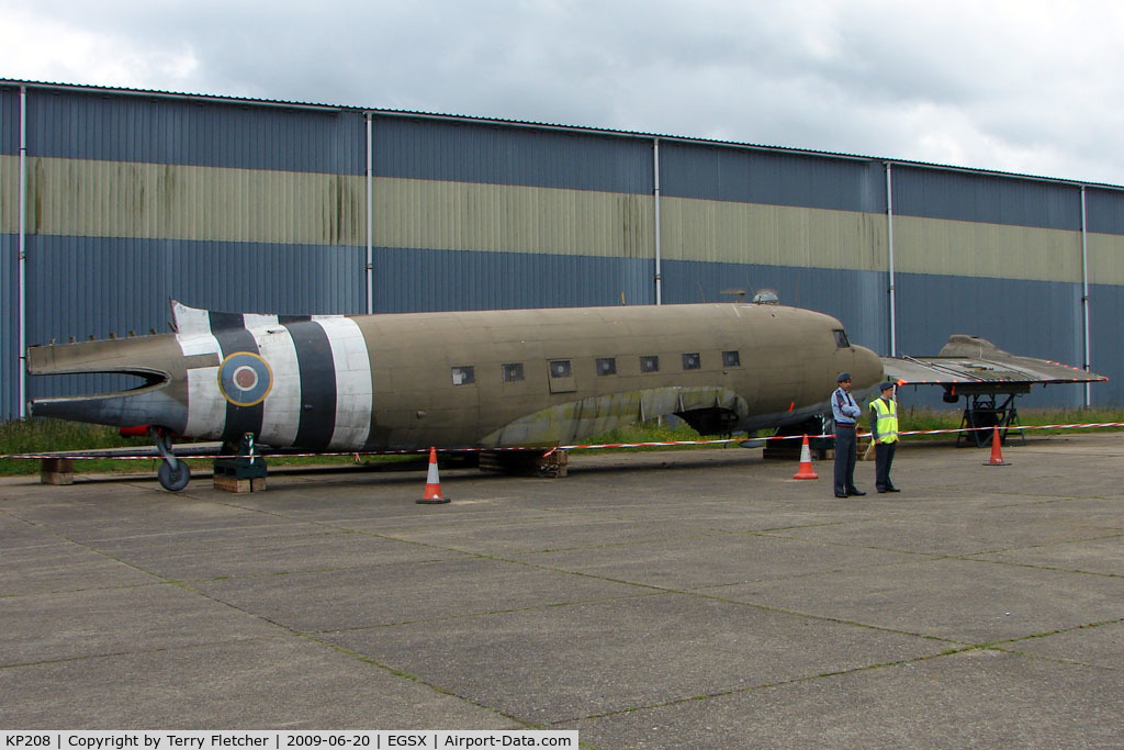 KP208, Douglas C-47 Dakota 4 C/N 33419, C47B restoration project at North Weald on 2009 Air Britain Fly-in Day 1
