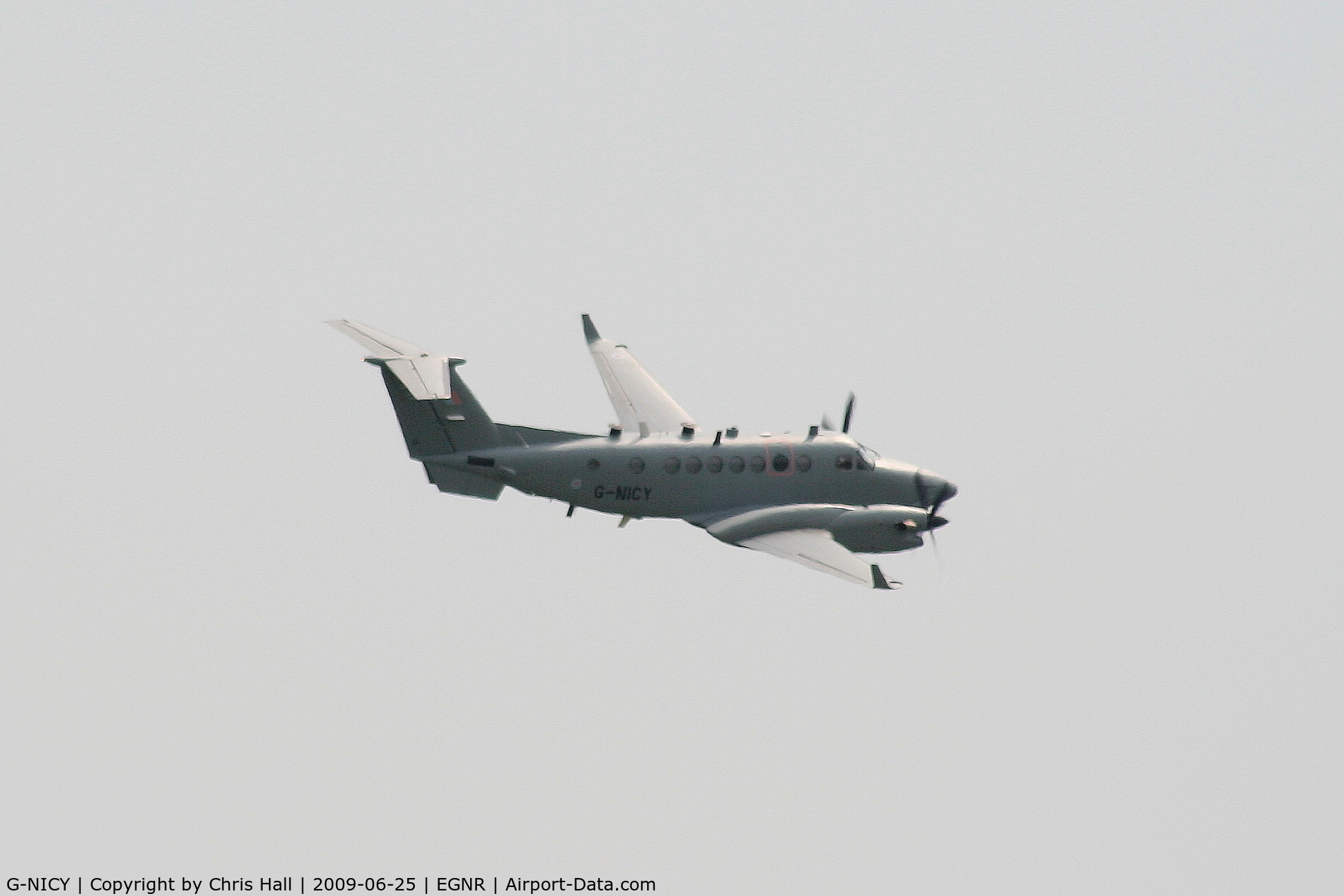 G-NICY, 2007 Hawker Beechcraft Shadow R1 (350CER) C/N FM-16, Super King Air bound for the Army Air Corps. It will become ZZ417 following the completion of alterations being carried out by Beechcraft at Hawarden