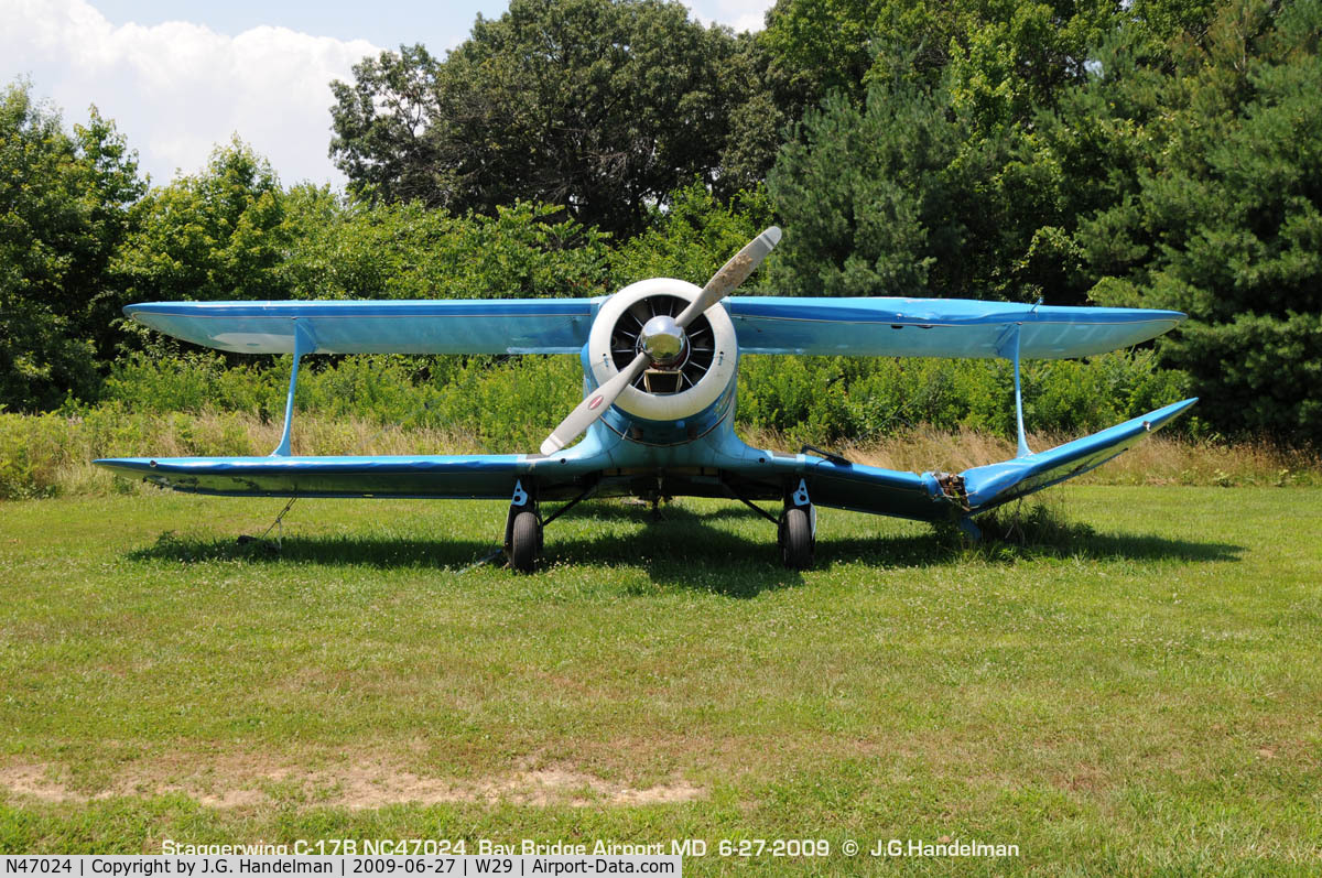 N47024, 1928 Beech C17B C/N C17B-102, accident front view