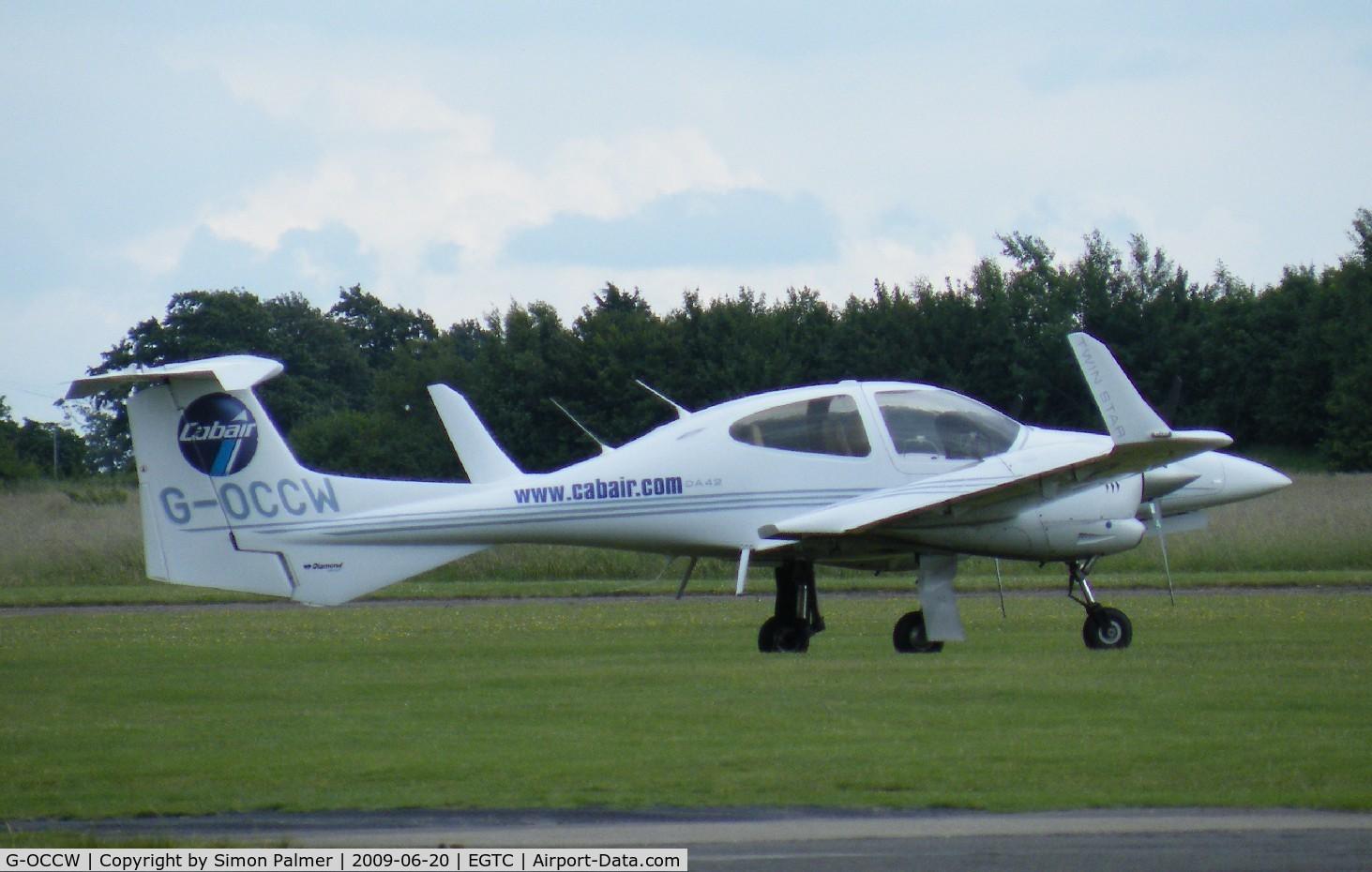 G-OCCW, 2006 Diamond DA-42 Twin Star C/N 42.154, DA42 based at Cranfield