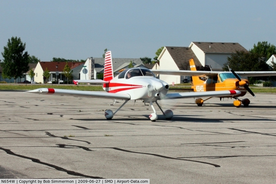N654W, 2006 Vans RV-7A C/N 71993, Departing Fort Wayne's Smith Field