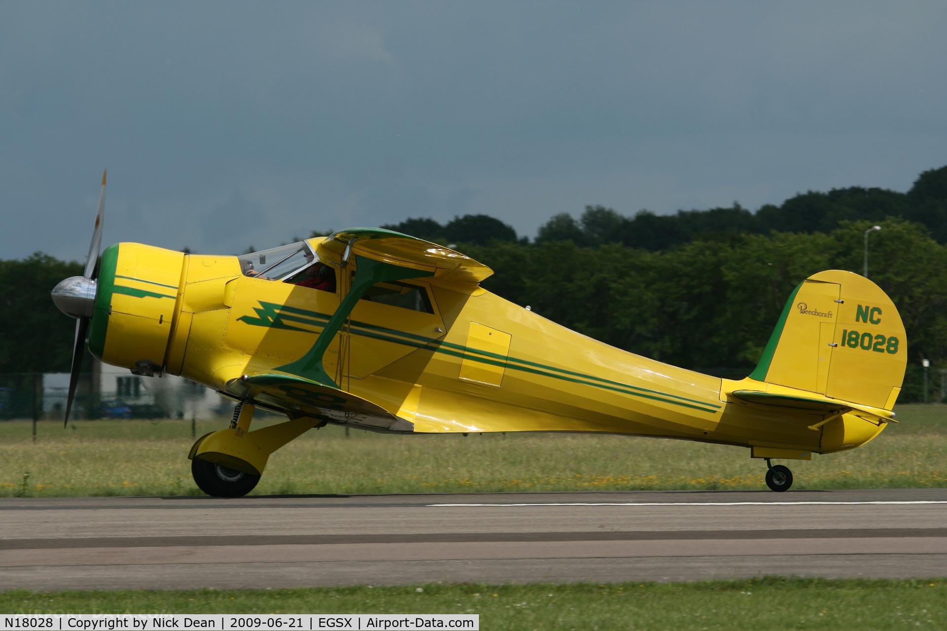 N18028, 1937 Beech D17S Staggerwing C/N 147, EGSX