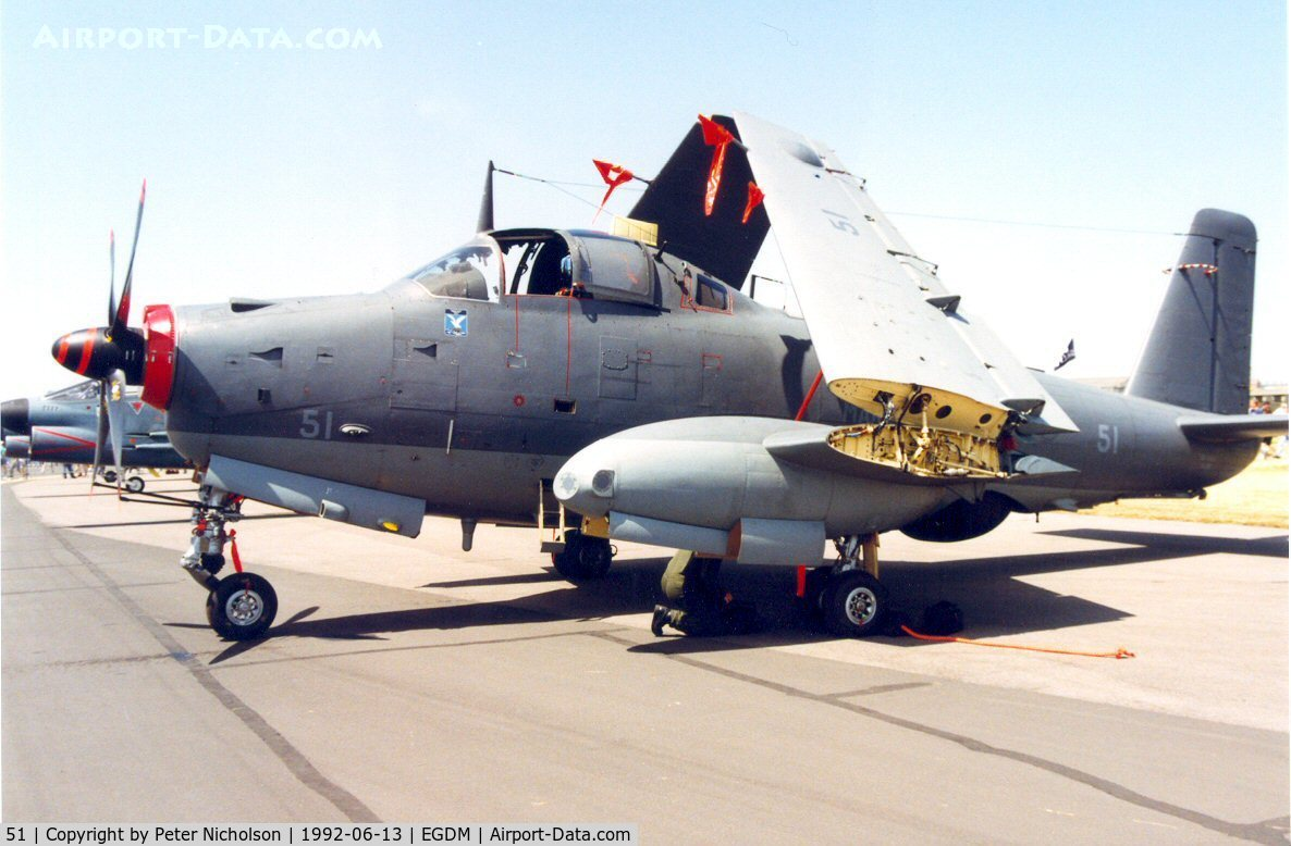 51, Breguet Br.1050 Alize C/N 51, Alize 51 of French Aeronavale's 4 Flotille at the 1992 Air Tattoo Intnl at Boscombe Down.