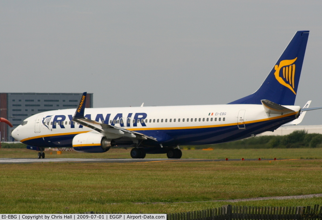 EI-EBG, 2009 Boeing 737-8AS C/N 37525, Ryanair Boeing 737-8AS/WL