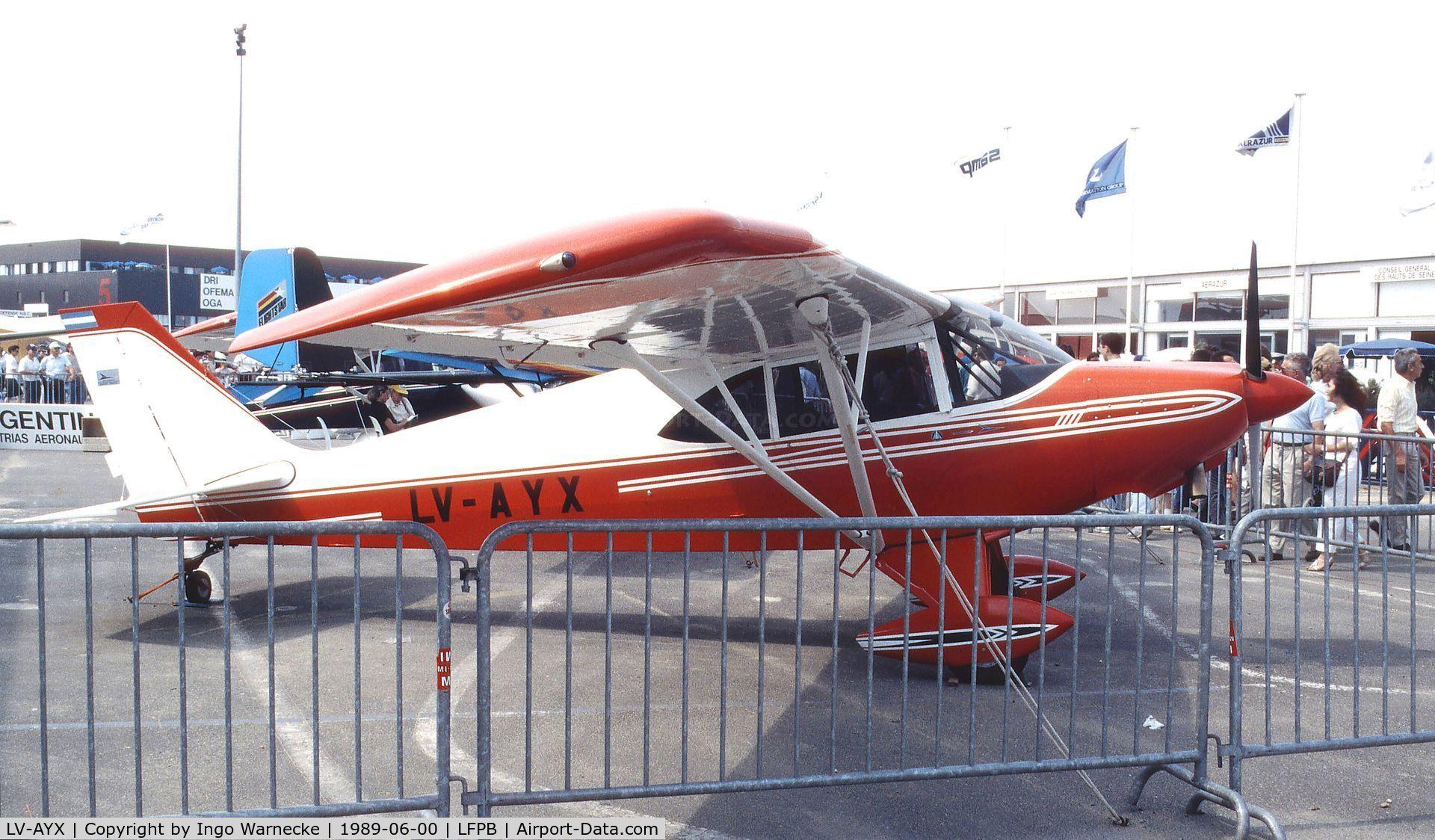 LV-AYX, Aero Boero 115 C/N 074, Aero Boero 115 at the Aerosalon 1989 Paris