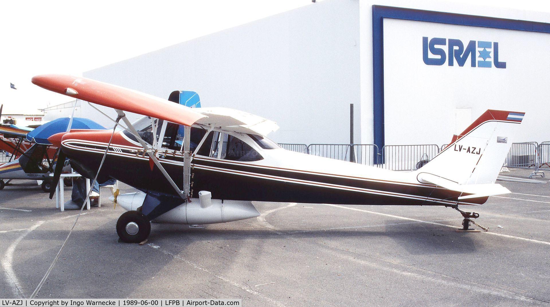 LV-AZJ, 1989 Aero Boero 180 RVR C/N 097B, Aero Boero 180 RVR at the Aerosalon 1989 Paris