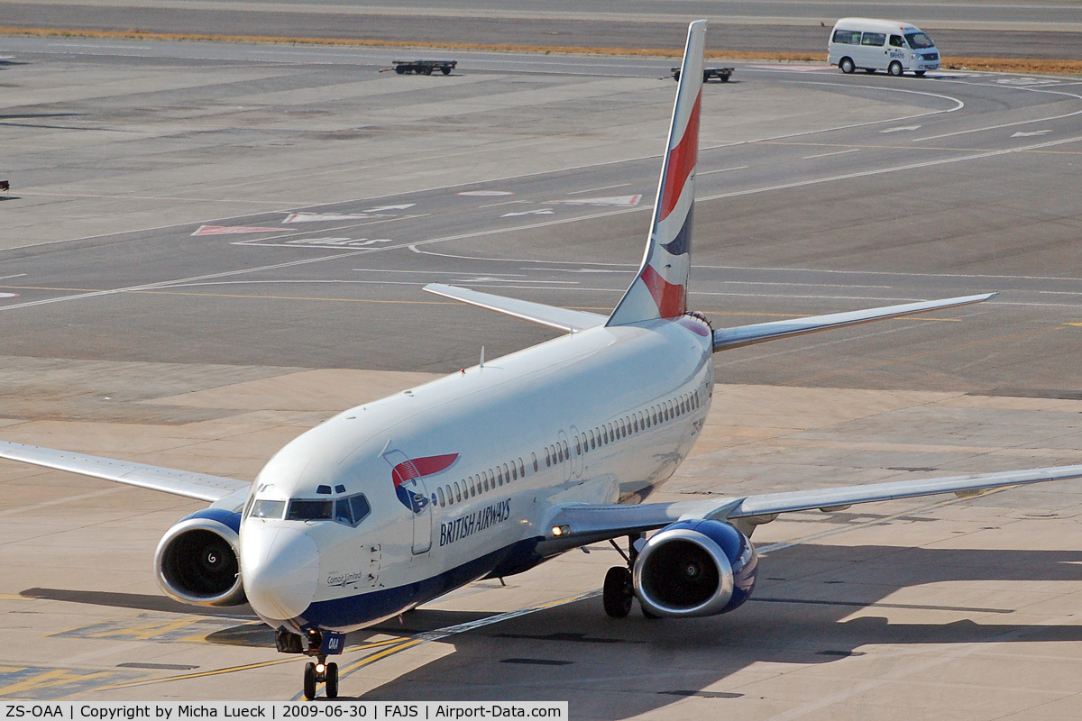ZS-OAA, 1993 Boeing 737-4L7 C/N 26960/2483, At Jo'burg