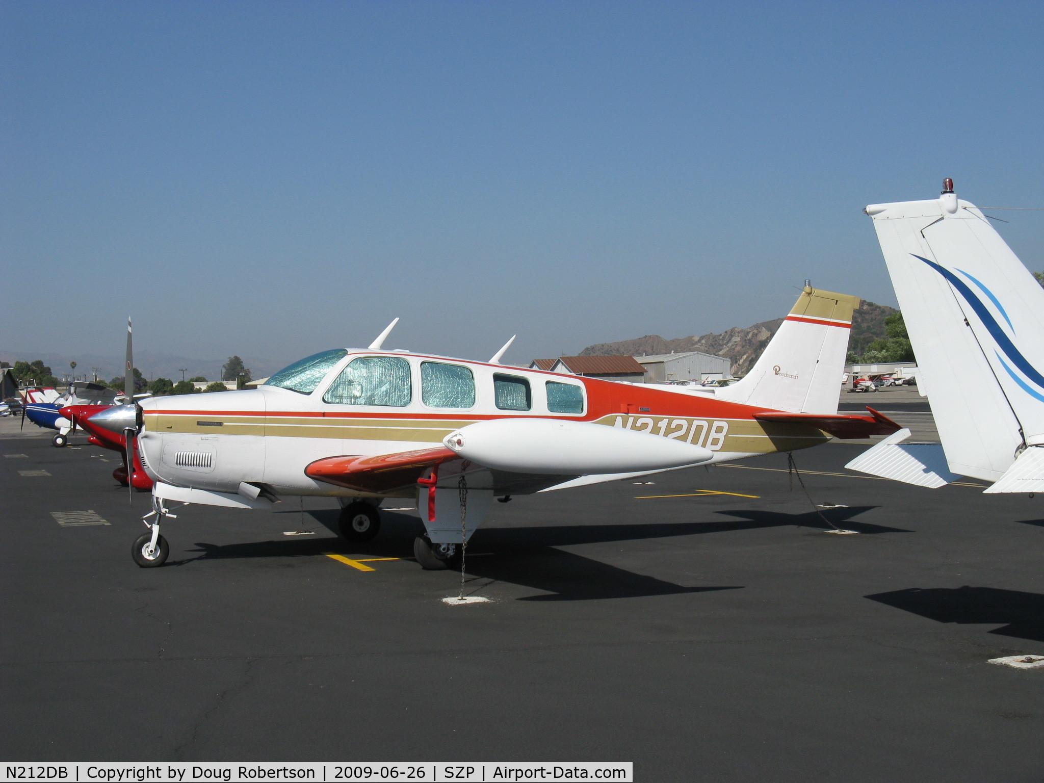N212DB, 1973 Beech A36 Bonanza 36 C/N E-407, 1973 Beech A36 BONANZA, Continental IO-520-B 285 Hp