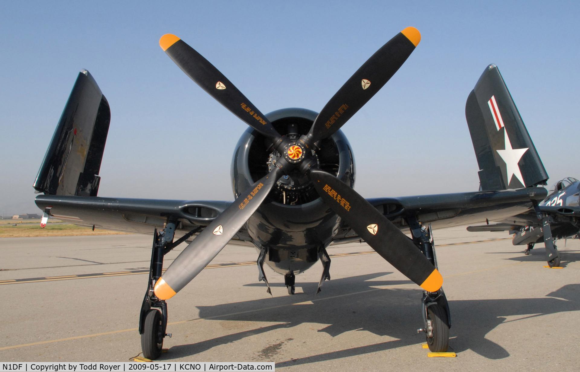 N1DF, 1948 Grumman F8F-2 (G58) Bearcat C/N D.1122, Chino Airshow 2009