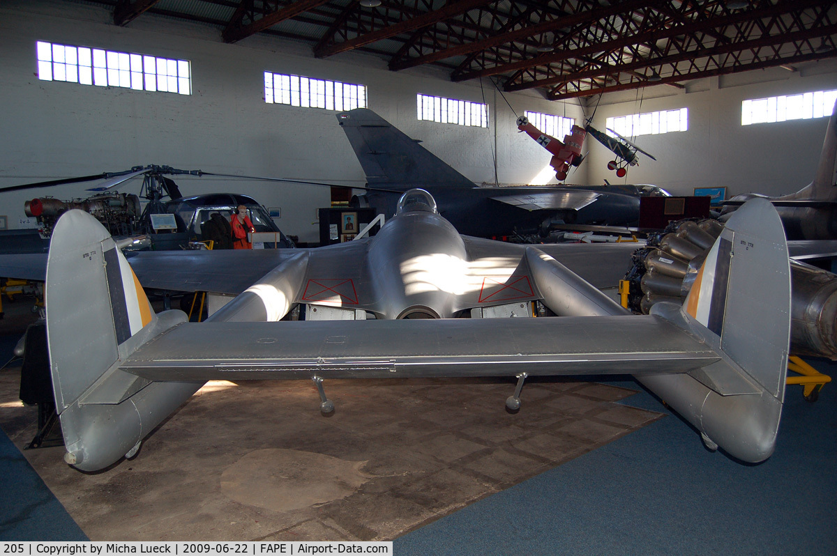 205, De Havilland DH-100 Vampire FB.5 C/N EP42784, De Havilland Vampire (DH-115)