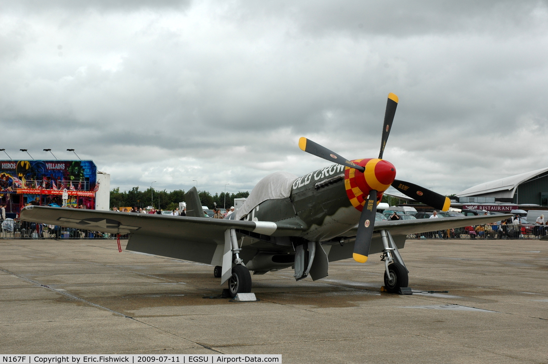 N167F, 1944 North American P-51D Mustang C/N 122-40417, 'Old Crow'  at Duxford Flying Legends Air Show July 09