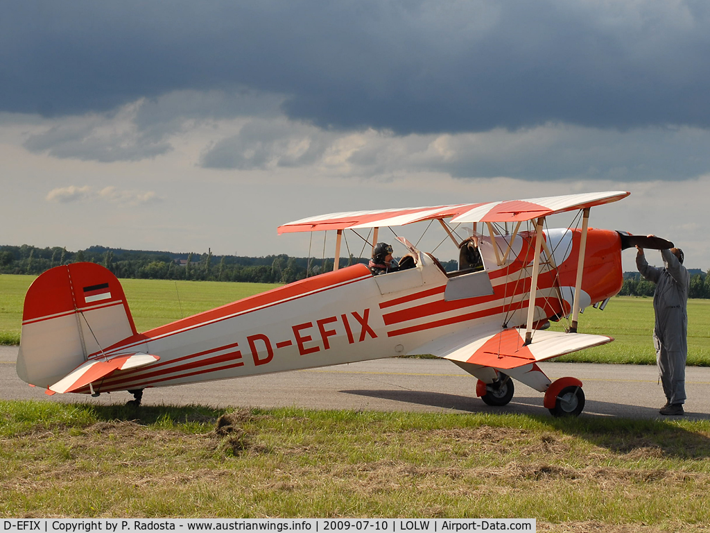 D-EFIX, CASA 1-131E Jungmann C/N 2063, Bücker Jungmann engine start