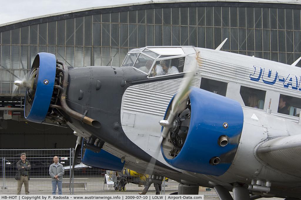 HB-HOT, 1939 Junkers Ju-52/3mg4e C/N 6595, Closeup of the legendary Tante Ju