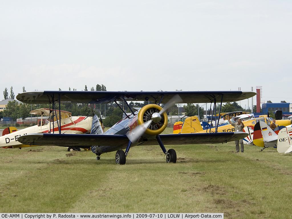 OE-AMM, 1943 Boeing E75 C/N 75-5032, Welster Flugtage / Bückertreffen 2009
